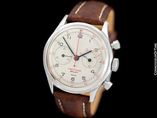 Gallet 1940's Gallet Multichron Yachting Vintage Mens Large Size Chronograph Image 3