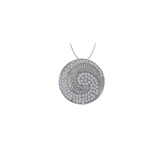 Preload https://img-static.tradesy.com/item/25994722/white-cubic-zirconia-circle-fancy-fashion-pendant-in-14k-gold-050-ct-necklace-0-0-540-540.jpg