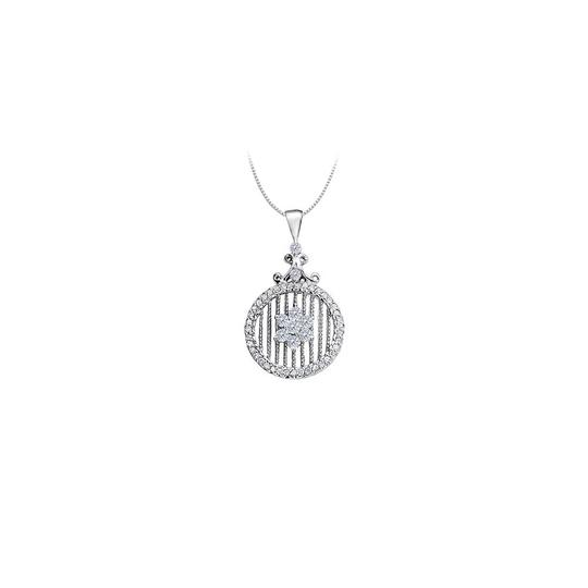 Preload https://img-static.tradesy.com/item/25994878/white-cubic-zirconia-circle-fancy-fashion-pendant-in-14k-gold-075-ct-necklace-0-0-540-540.jpg