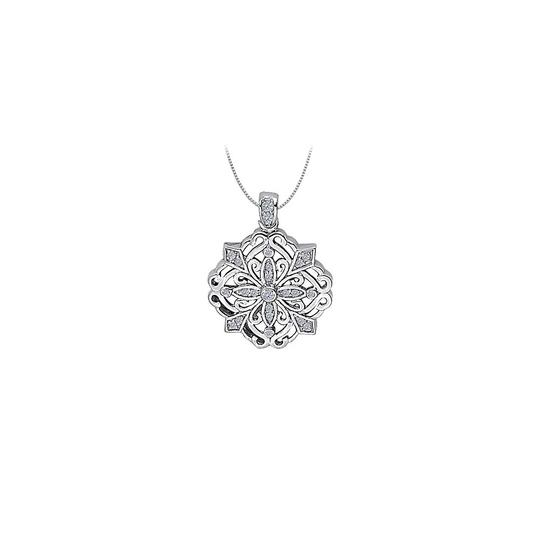 Preload https://img-static.tradesy.com/item/25994889/white-cubic-zirconia-square-shaped-pendant-in-14k-gold-025-ct-tgwperf-necklace-0-0-540-540.jpg