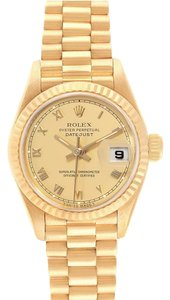 Rolex Rolex President Datejust 26 Yellow Gold Ladies Watch 69178 Box Papers
