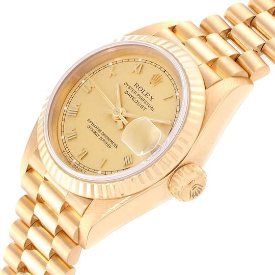 Rolex Rolex President Datejust 26 Yellow Gold Ladies Watch 69178 Box Papers Image 3