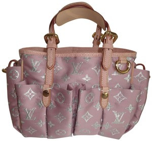 Louis Vuitton Limited Edition Pastel Glitter Cabas Tote in Pink