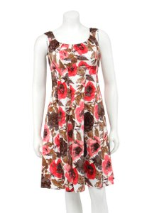 London Times short dress Pink Brown Cotton Empire Waist Fit And Flare on Tradesy