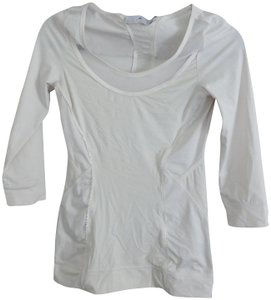 adidas By Stella McCartney White long sleeve eyelet structured top