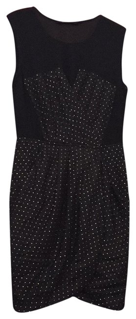 Preload https://img-static.tradesy.com/item/25995166/ark-and-co-black-gold-with-polka-dots-short-cocktail-dress-size-8-m-0-3-650-650.jpg