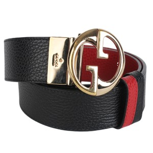Gucci Authentic Gucci GG Reversible Belt Size 80/32 Black / Red 7697