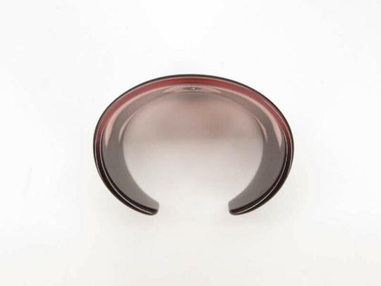 Chanel AUTH CHANEL 01P CC BLACK PINK PLASTIC BANGLE Image 4
