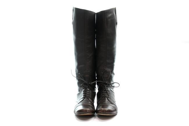 Item - Brown Leather Lace Tie 9.5 Boots/Booties Size EU 39.5 (Approx. US 9.5) Regular (M, B)