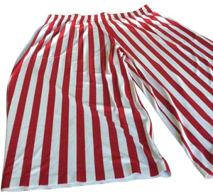 Norma Kamali Capri/Cropped Pants red and white stripes