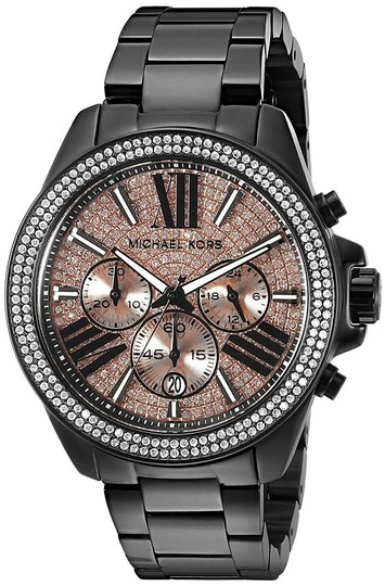 Preload https://img-static.tradesy.com/item/25995274/michael-kors-black-wren-stainless-rose-gold-pave-crystal-glitz-mk5879-watch-0-0-540-540.jpg