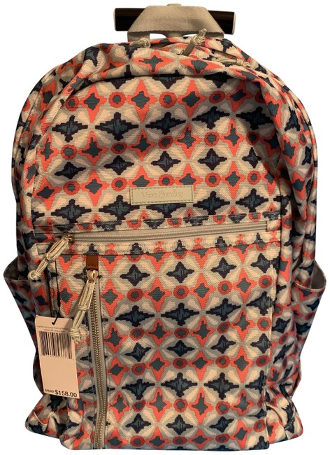 Item - Lighten Up Large Rolliong Water Geo Multicolor Cotton Blend Backpack