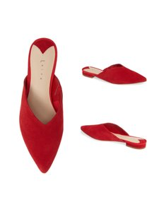 Leith red Mules