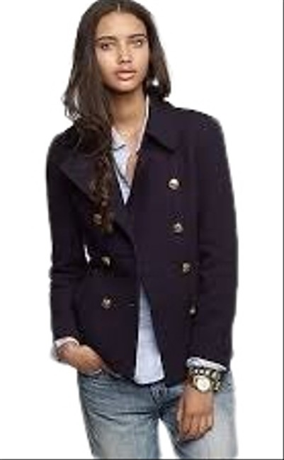 Item - Navy Factory with Gold Buttons Coat Size 4 (S)