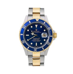 Rolex Rolex Submariner 16613 40MM Blue Dial With Two Tone Bracelet