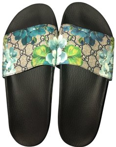 Gucci Black and Blue Sandals