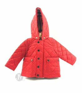 Burberry BRAND NEW UNISEX BURBERRY JAMIE QUILTED HOODED CHERRY RED 6M BABY TODD