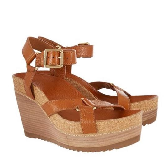 Tory Burch New Cognac Wedges Image 1