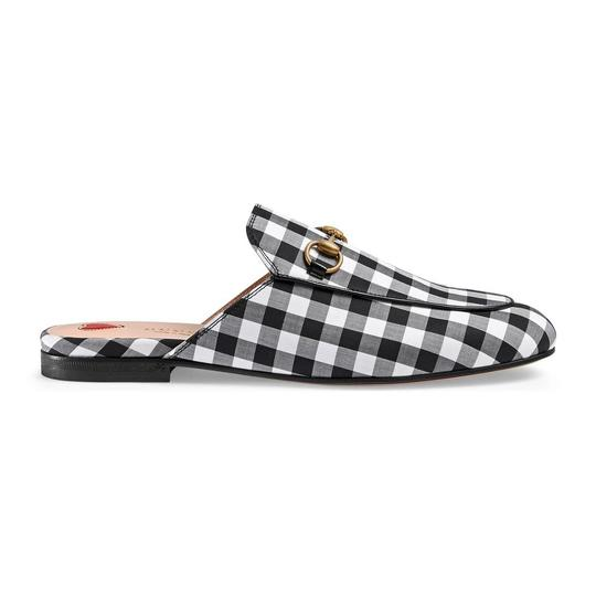 Gucci Black and White Mules Image 1