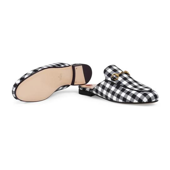 Gucci Black and White Mules Image 2