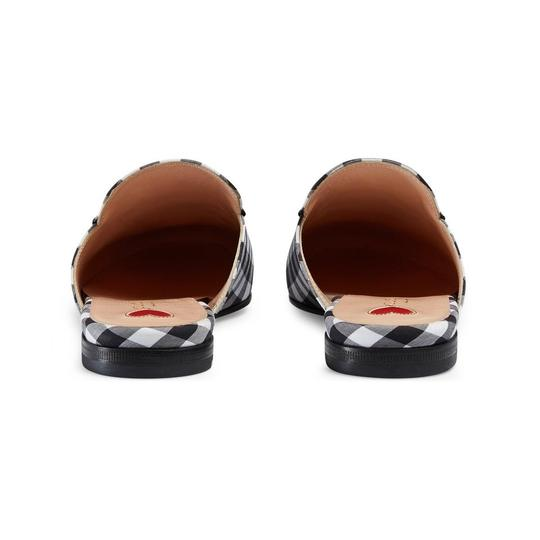 Gucci Black and White Mules Image 4