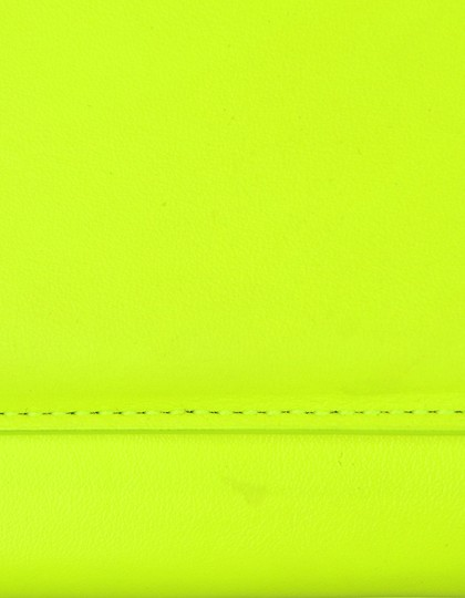 Saint Laurent Neon Smooth Leather Yellow Clutch Image 5