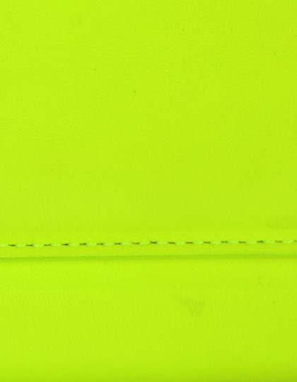 Saint Laurent Neon Smooth Leather Yellow Clutch Image 6