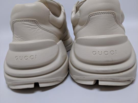 Gucci Rhyton Dad Sneakers Leather Trainers White Athletic Image 4