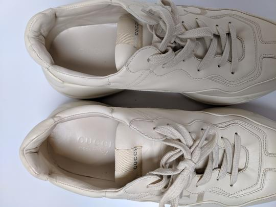 Gucci Rhyton Dad Sneakers Leather Trainers White Athletic Image 6