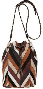 Jérôme Dreyfuss Chevron Bucketbag Drawstring Color-blocking Pattern Hobo Bag