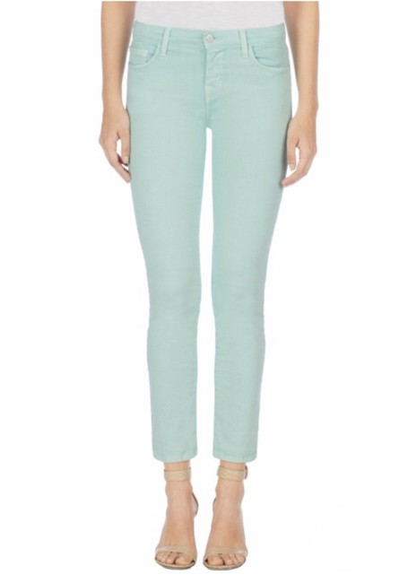 Item - Sea Green Photo Ready Cropped Rail In Skinny Jeans Size 25 (2, XS)