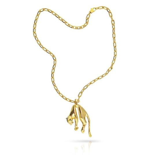 Preload https://img-static.tradesy.com/item/25996870/cartier-18k-yellow-gold-panther-chain-two-diamond-eyes-necklace-0-0-540-540.jpg