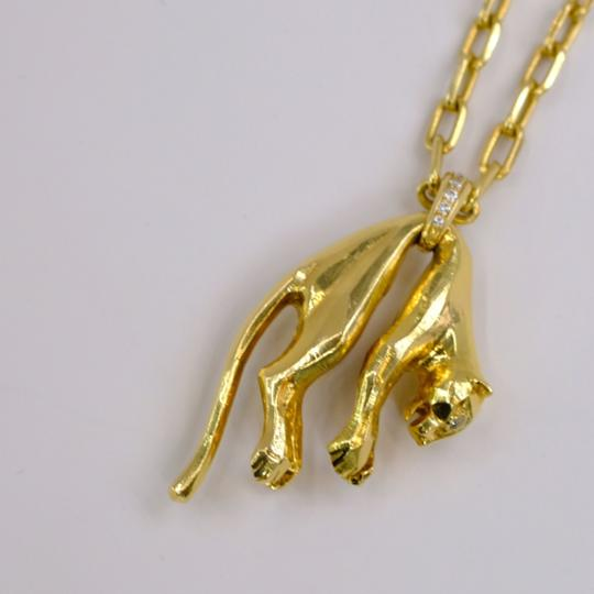 Cartier Panther Chain Two Diamond Eyes Necklace Image 2