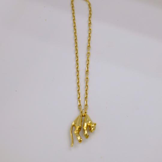 Cartier Panther Chain Two Diamond Eyes Necklace Image 3