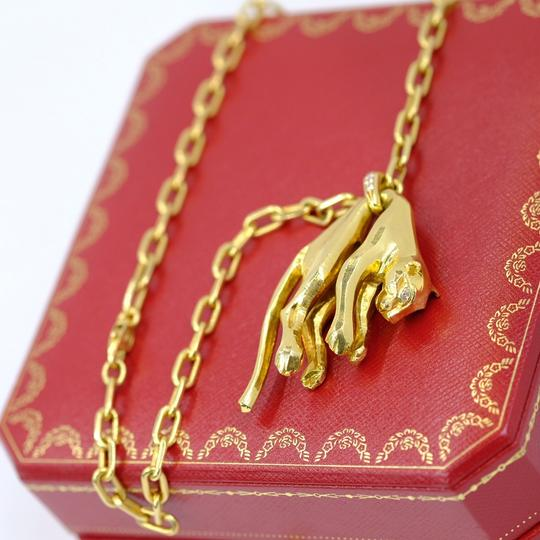 Cartier Panther Chain Two Diamond Eyes Necklace Image 7