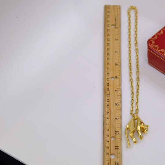 Cartier Panther Chain Two Diamond Eyes Necklace Image 9
