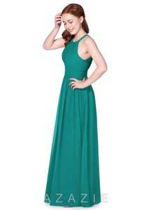 Azazie Turquoise/Green Lyanna Formal Bridesmaid/Mob Dress Size 4 (S)