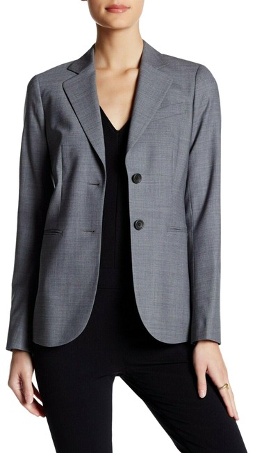 Item - Gray Jacket Two Button Wool S Notch Lapel Lined Blazer Size 4 (S)