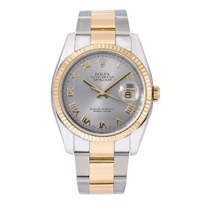 Rolex Rolex Datejust 116233 36MM Silver Dial With Two Tone Bracelet