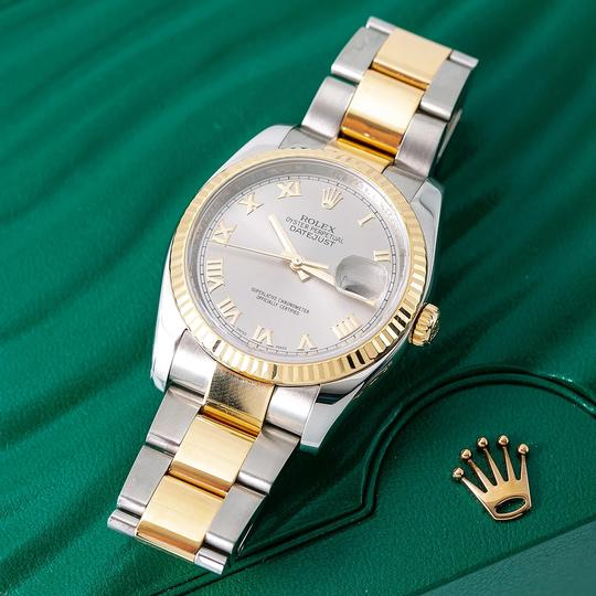 Rolex Rolex Datejust 116233 36MM Silver Dial With Two Tone Bracelet Image 1