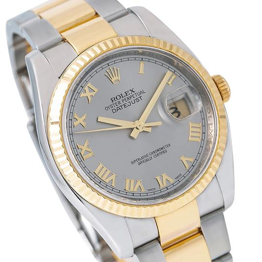 Rolex Rolex Datejust 116233 36MM Silver Dial With Two Tone Bracelet Image 2