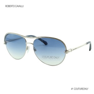 Roberto Cavalli New Vega RC1011 16X Women Shiny Palladium Metal Aviator Sunglasses