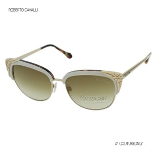 Roberto Cavalli New Wezn RC1014 25F Women Metal Cat-Eye Sunglasses 46mm