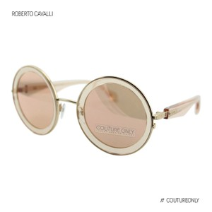 Roberto Cavalli New Monterotondo Rc1092 72g Women Mirrored Round Oversized Sunglasses