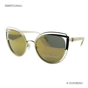 Roberto Cavalli New Monteverdi Rc1095 32g Transparent Mirrored Cat-eye Sunglasses