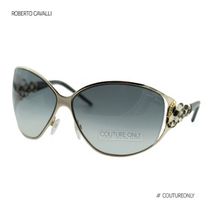Roberto Cavalli New RC851S Bellatrix Women Gradient & Pale Gold Wrap Shield Sunglasses