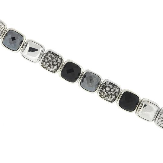 David Yurman David Yurman Chiclets One Row Diamond , Hematite ,Onyx Sterling Silver Image 1