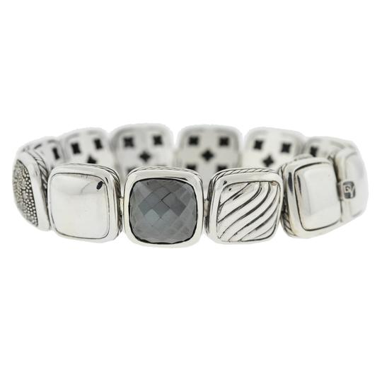 David Yurman David Yurman Chiclets One Row Diamond , Hematite ,Onyx Sterling Silver Image 3