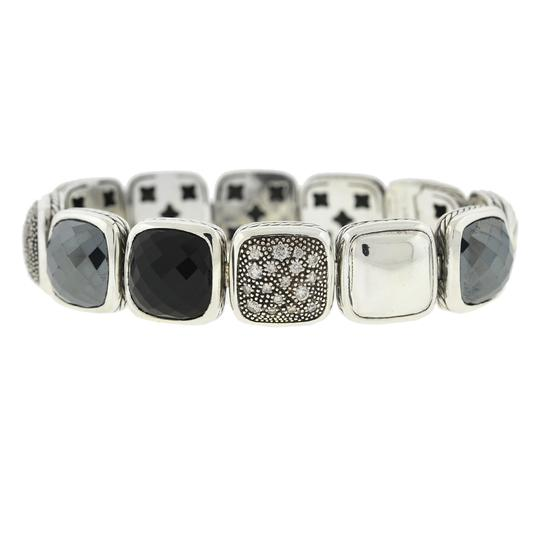 David Yurman David Yurman Chiclets One Row Diamond , Hematite ,Onyx Sterling Silver Image 5