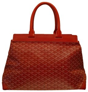 Goyard 2014 Collection Coated Canvas Monogram Musthave Tote in Red